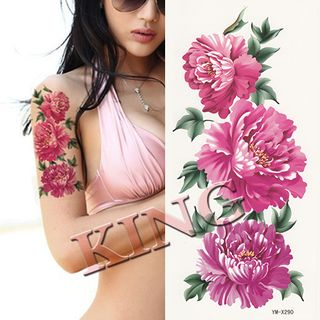 Chrysanthemum Waterproof Temporary Tattoo As Figure - One Size from Pivoine