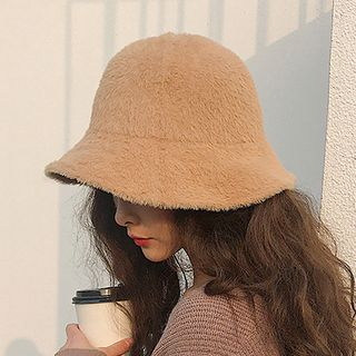 Chenille Plain Bucket Hat from Pompabee