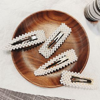 Faux Pearl Hair Clip (various designs) from Pompabee
