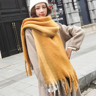 Fringed Plain Scarf from Pompabee