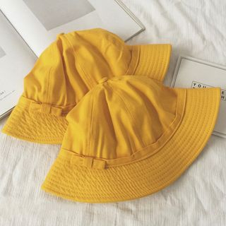 Plain Bucket Hat Yellow - M from Pompabee