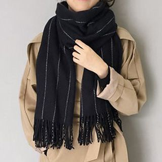 Plain Fringed Scarf from Pompabee