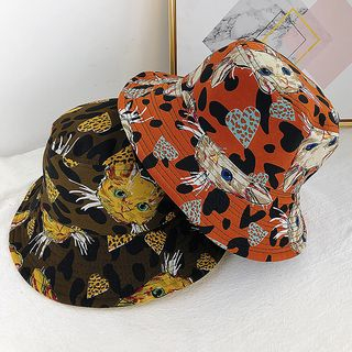 Reversible Cat Print Bucket Hat from Pompabee