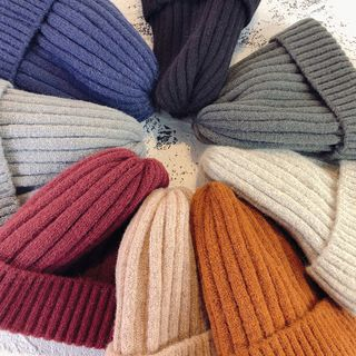 Ribbed Knit Beanie from Pompabee