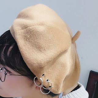 Ring Detail Beret from Pompabee