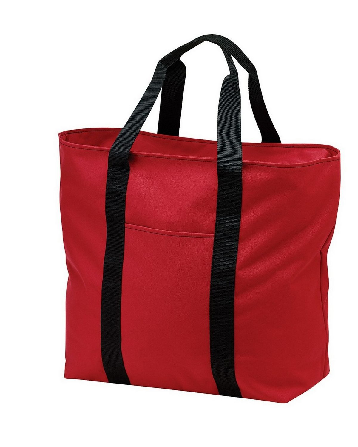 Port Authority B5000 Improved All Purpose Tote - Red/Black - One Size from Port Authority