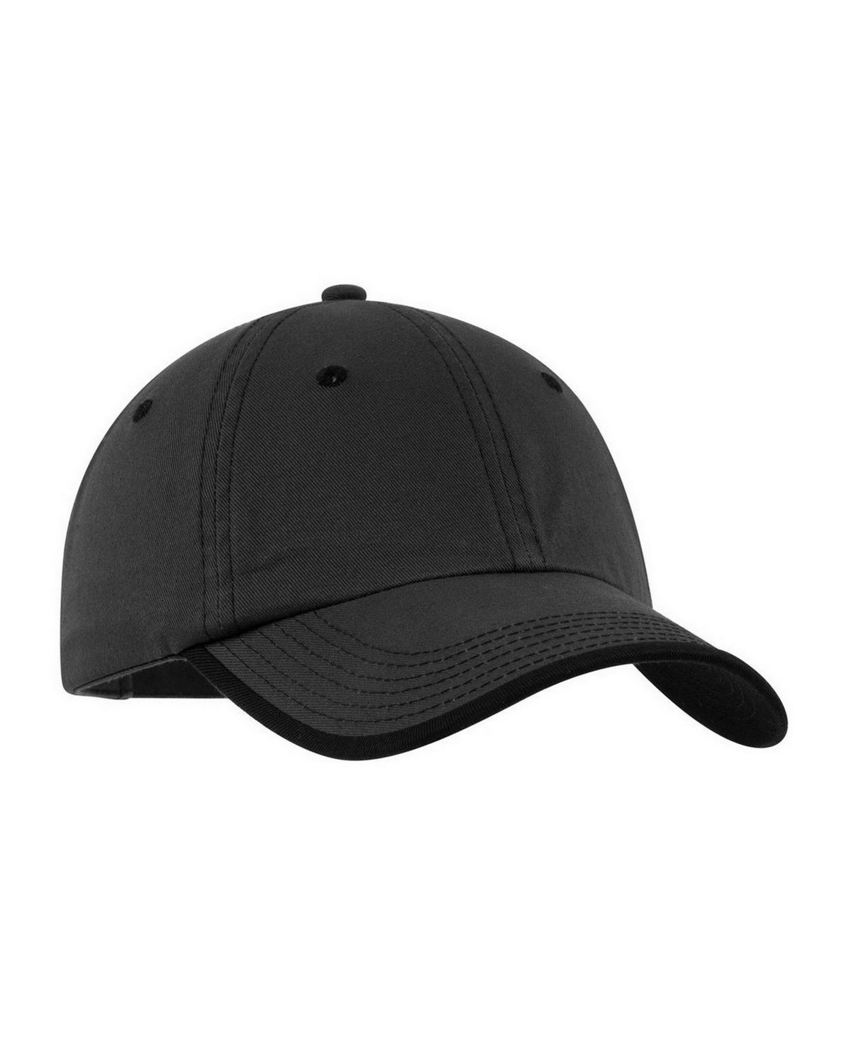 Port Authority C835 Vintage Washed Contrast Stitch Cap - Charcoal/Black - One Size from Port Authority