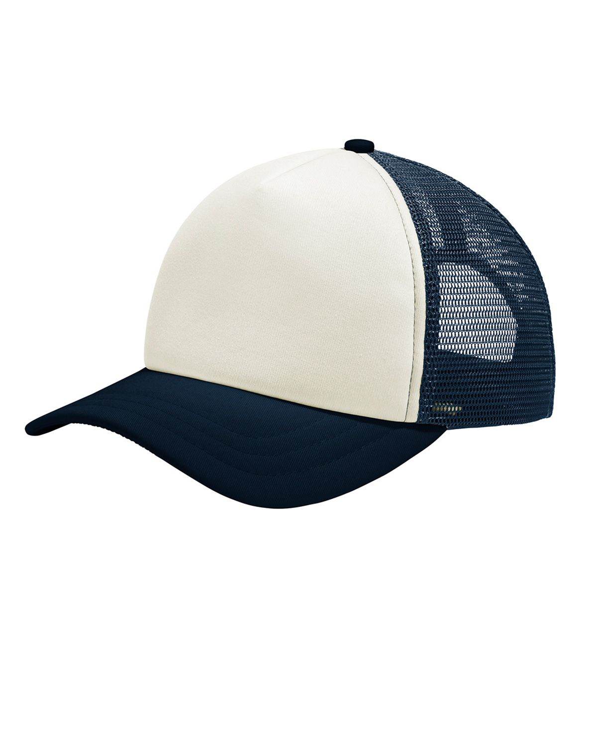 Port Authority C936 5-Panel Twill Foam Trucker Cap - Ivory/ Navy - One Size from Port Authority