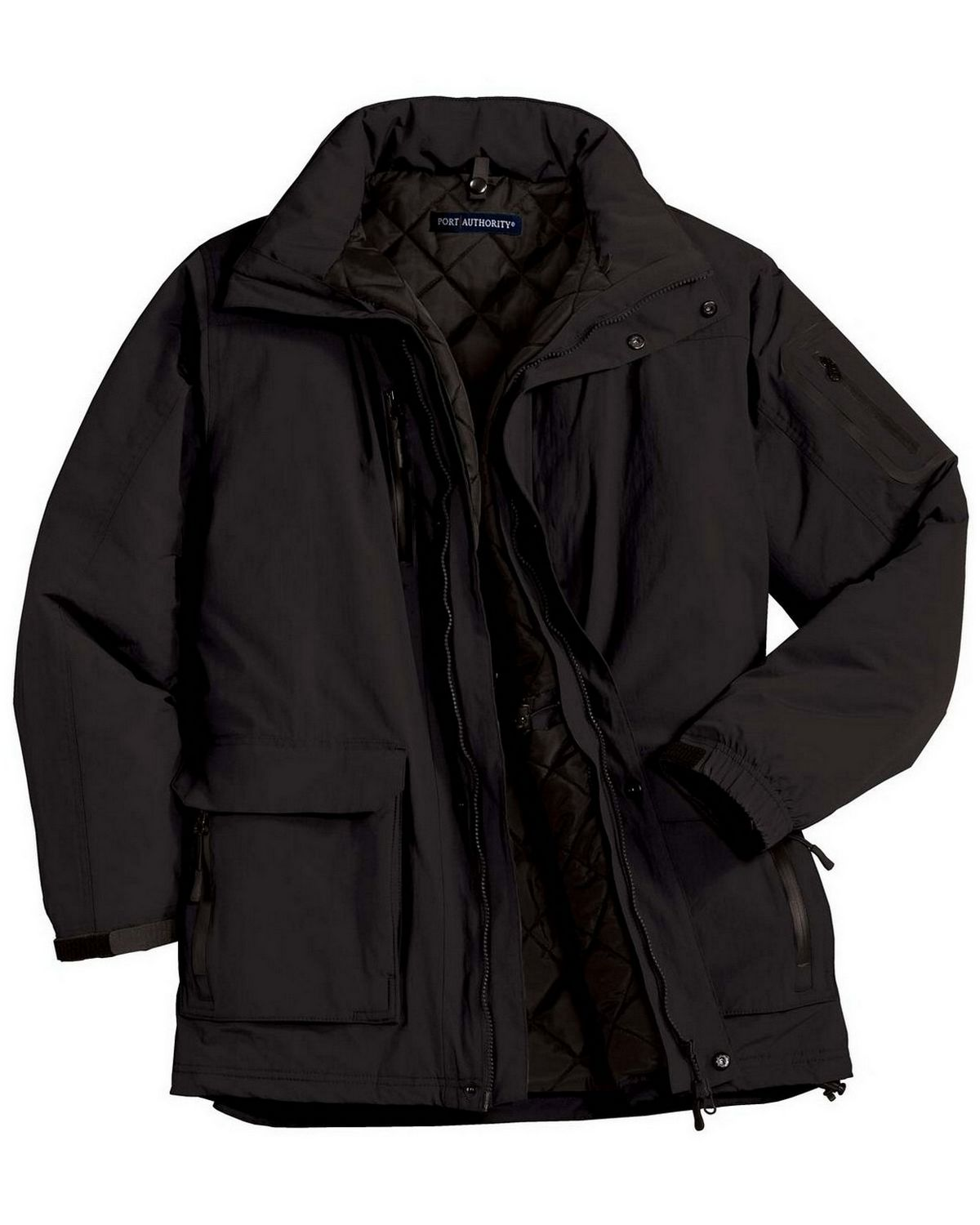 Port Authority J799 Men's Heavyweight Parka - Black - XS from Port Authority