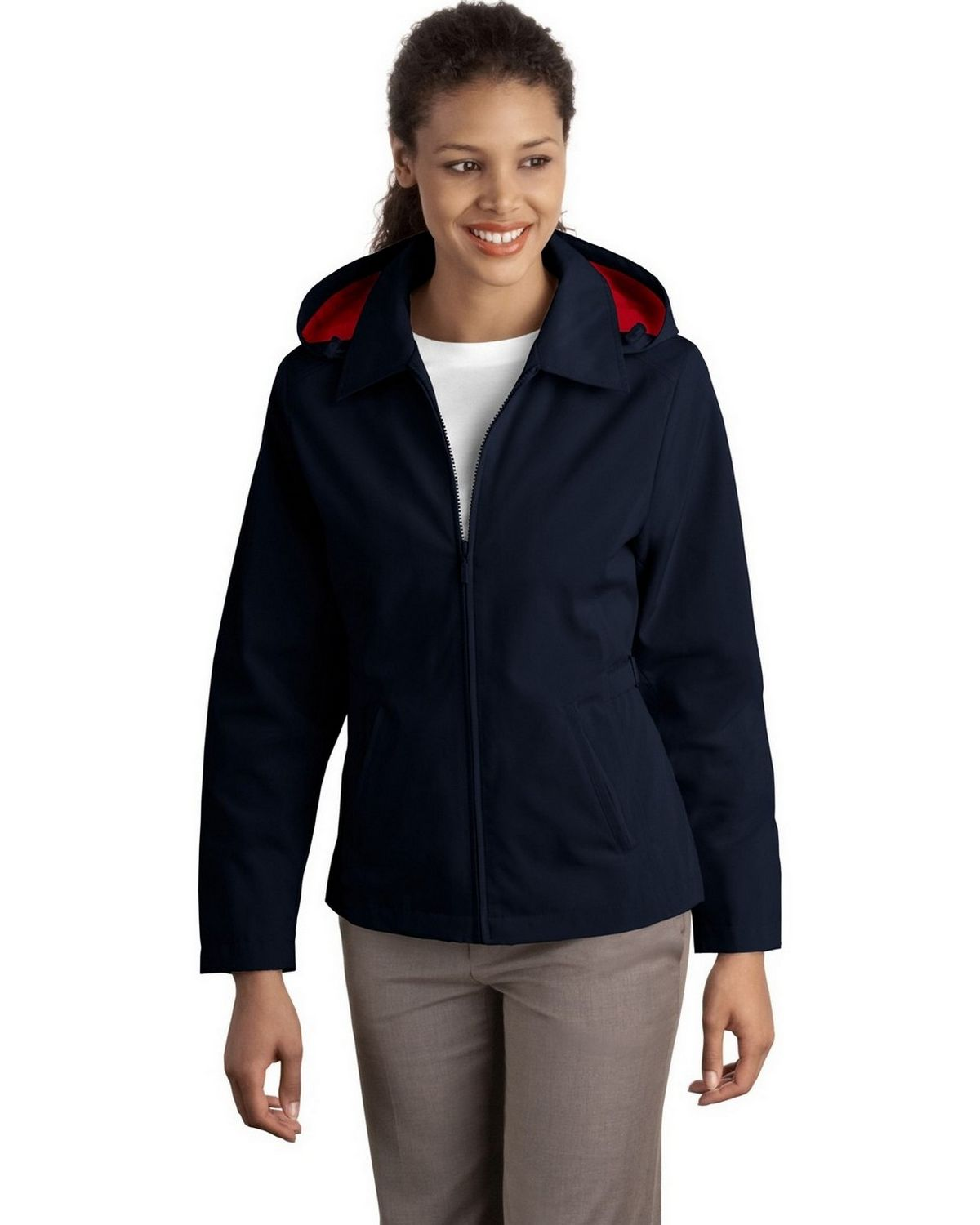 Port Authority L764 Women's Legacy Jacket - Dark Navy/Red - XS from Port Authority
