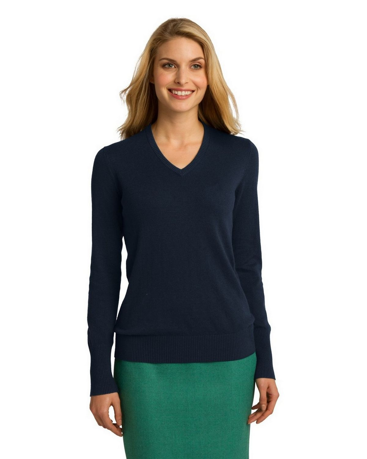 Port Authority LSW285 Women's Sweater - Navy - XS from Port Authority