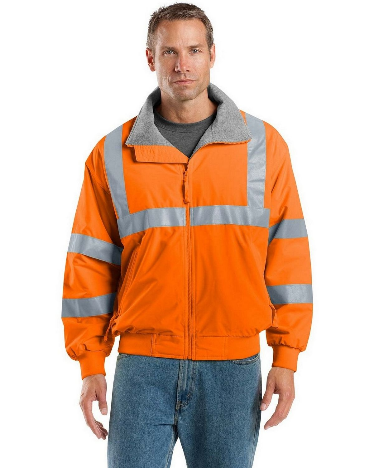 Port Authority SRJ754 Men's Safety Challenger Jacket with Reflective Taping - Safety Orange/Reflective - XS from Port Authority