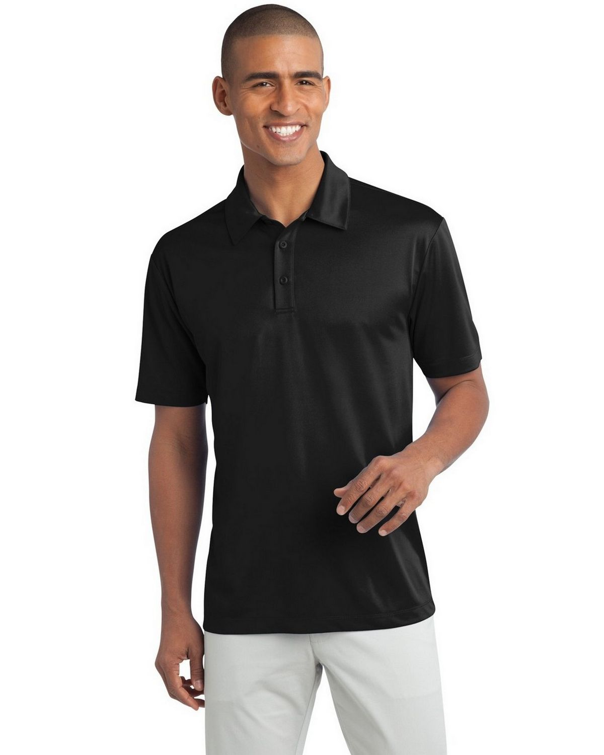 Port Authority TLK540 Men's Tall Silk Touch Performance Polo - Black - LT from Port Authority