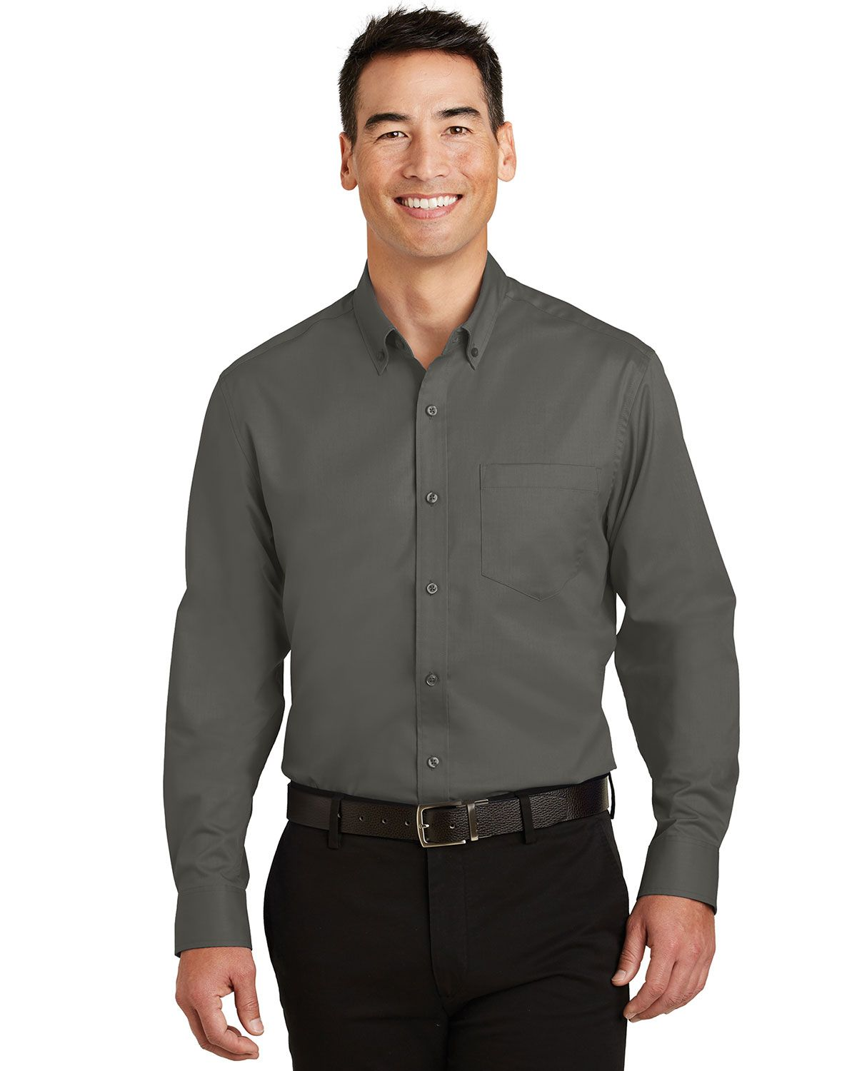 Port Authority TS663 Men's Tall SuperPro Twill Shirt - Sterling Grey - LT from Port Authority