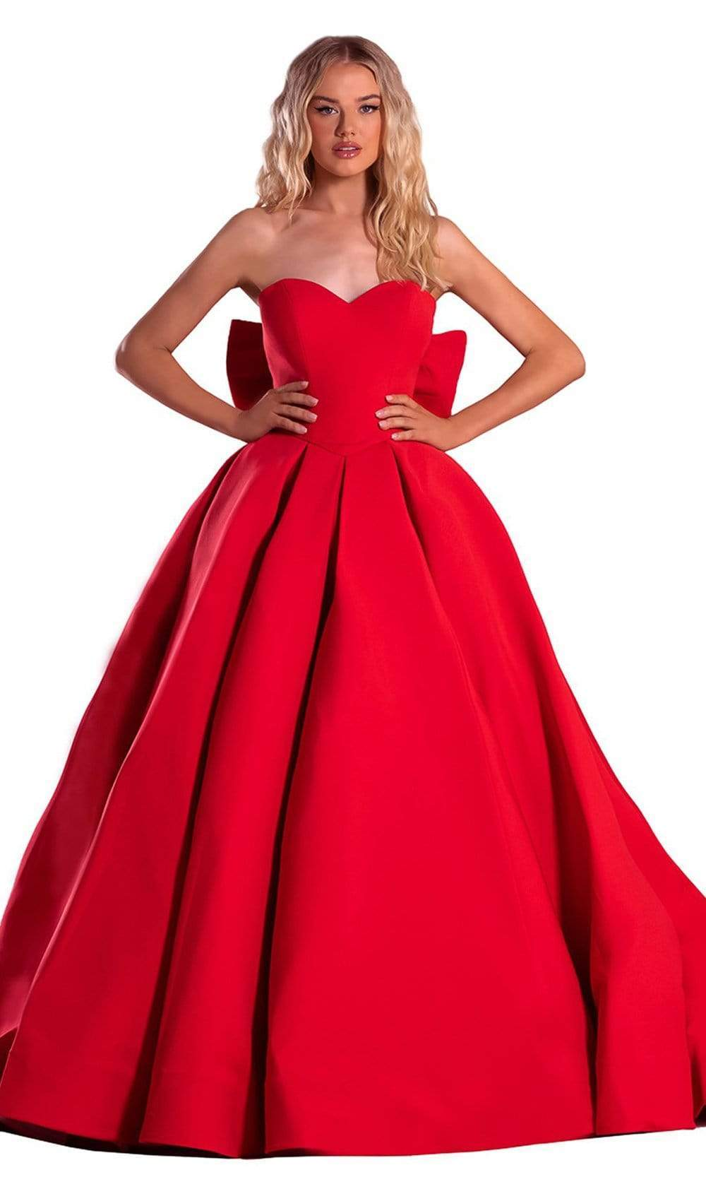 Portia and Scarlett - PS21003 Strapless Bow Accented Back Ballgown from Portia and Scarlett