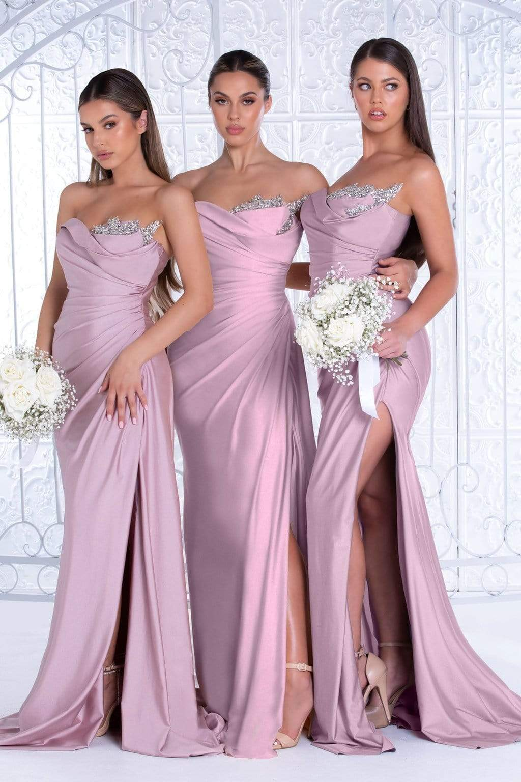 Portia and Scarlett - PS21218 Sweetheart Neck Drape Fitted Gown from Portia and Scarlett