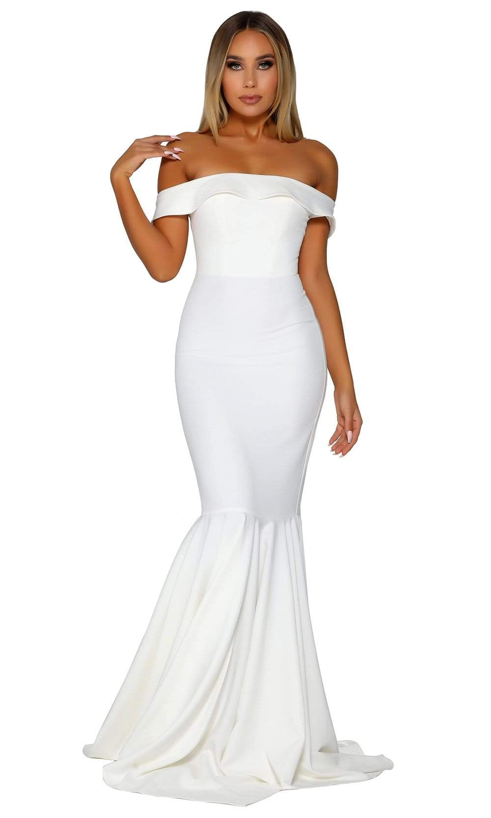 Portia and Scarlett - PS6370 Foldover Off Shoulder Mermaid Gown from Portia and Scarlett