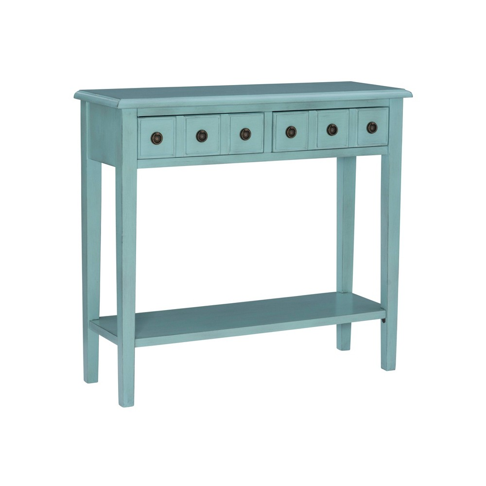 Calinda Small Console Table Teal - Powell Company from Powell Company