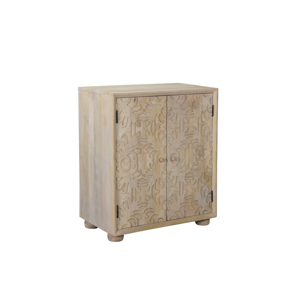 Heath 2 Door Carved Cabinet Natural - Powell Company from Powell Company