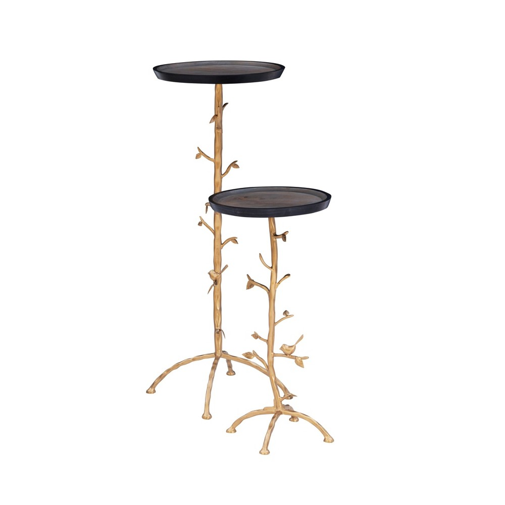 Knollwood Branch Table Set Gold - Powell Company from Powell Company