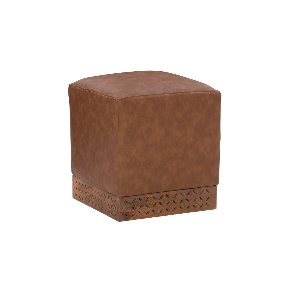 Stilz Square Ottoman Brown - Powell Company from Powell Company