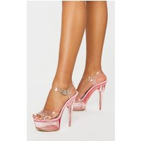 Pink Extreme Clear Platform Sandals from PrettyLittleThing