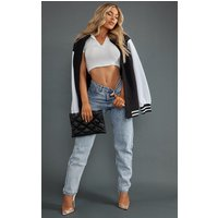 PrettyLittleThingAcid Blue Mom Jean from PrettyLittleThing