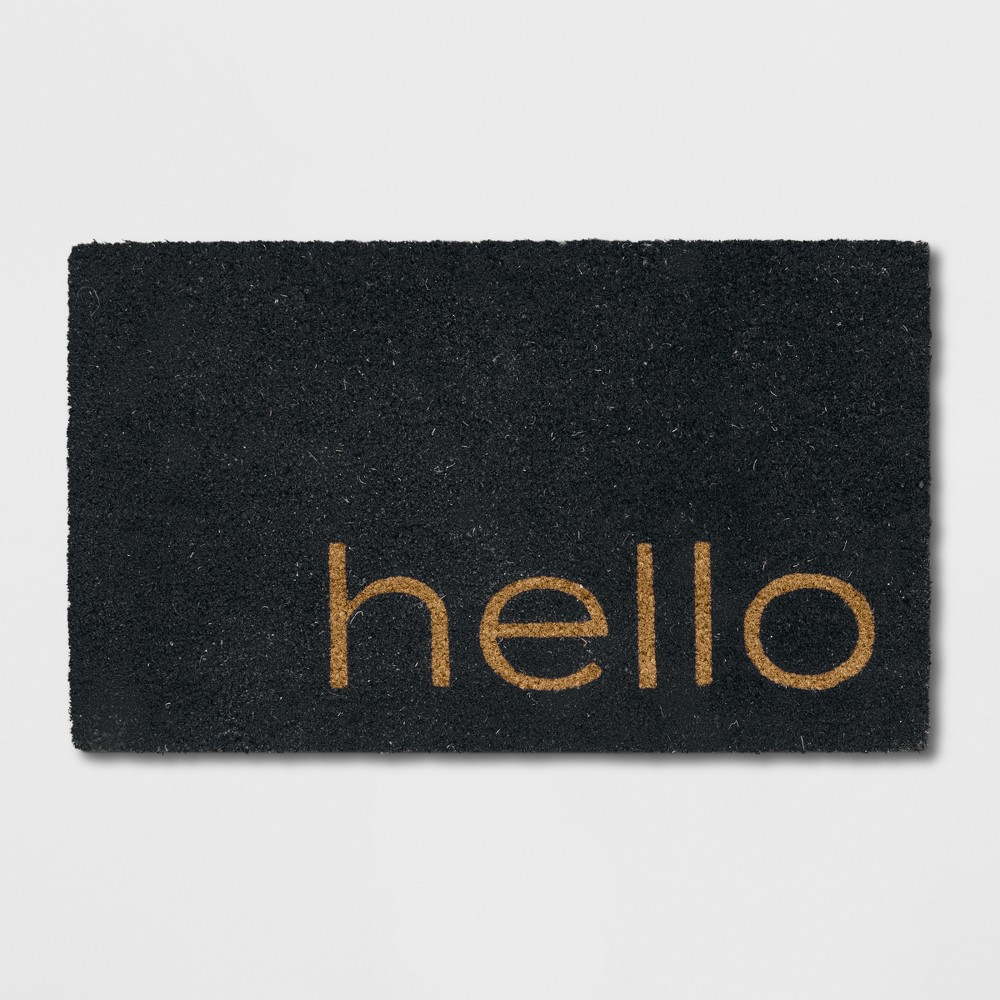 "1'6""X2'6""/18""X30"" Hello Doormat Black - Project 62 from Project 62"