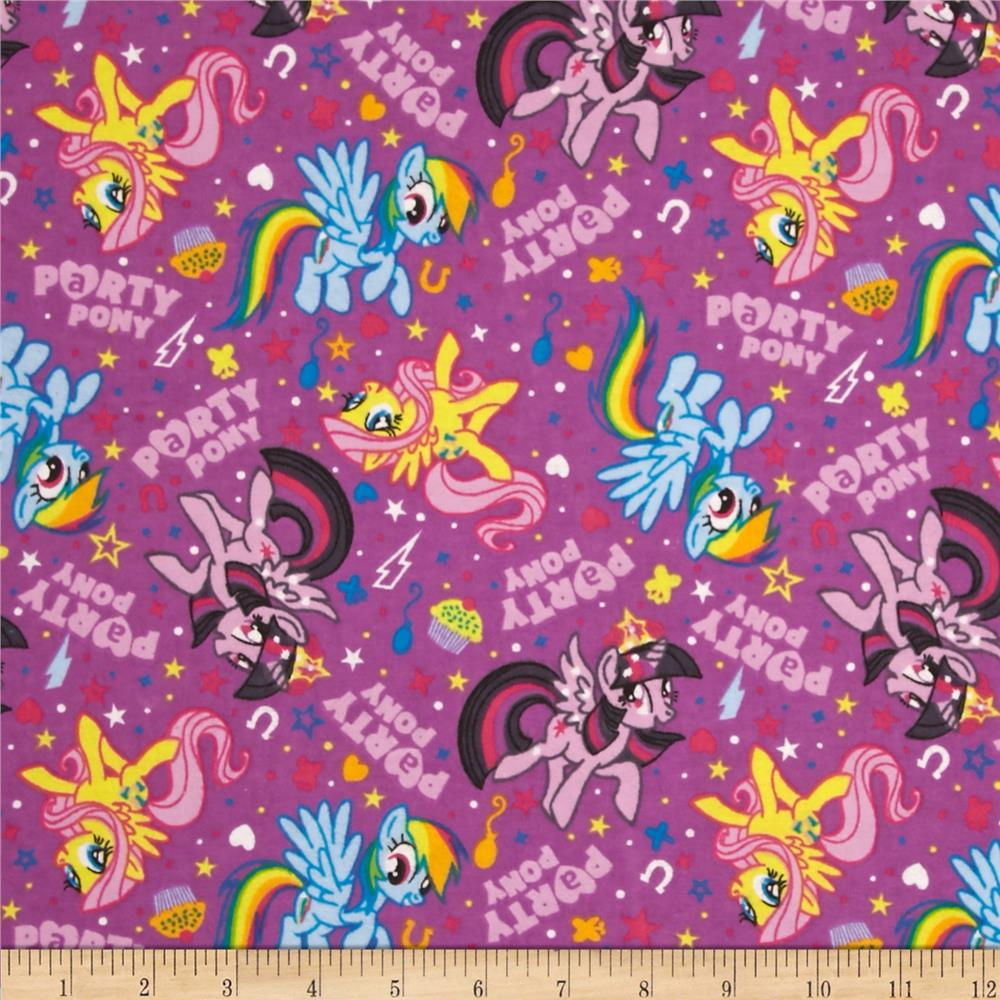 10 Yard Bolt Hasbro My Little Pony Flannel Party Ponies Purple Fabric