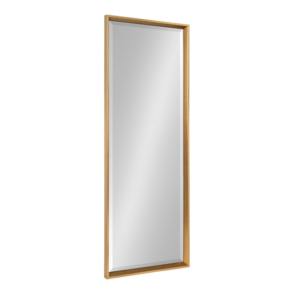 "17.5"" x 49.5"" Calter Full Length Wall Mirror Gold - Kate and Laurel from Kate & Laurel All Things Decor"
