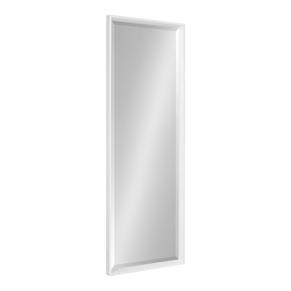 "17.5"" x 49.5"" Calter Full Length Wall Mirror White - Kate and Laurel from Kate & Laurel All Things Decor"
