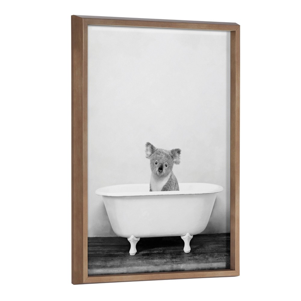 "18"" x 24"" Blake Koala in Bathtub by Amy Peterson Framed Printed Art Gold - Kate & Laurel All Things Decor from Kate & Laurel All Things Decor"