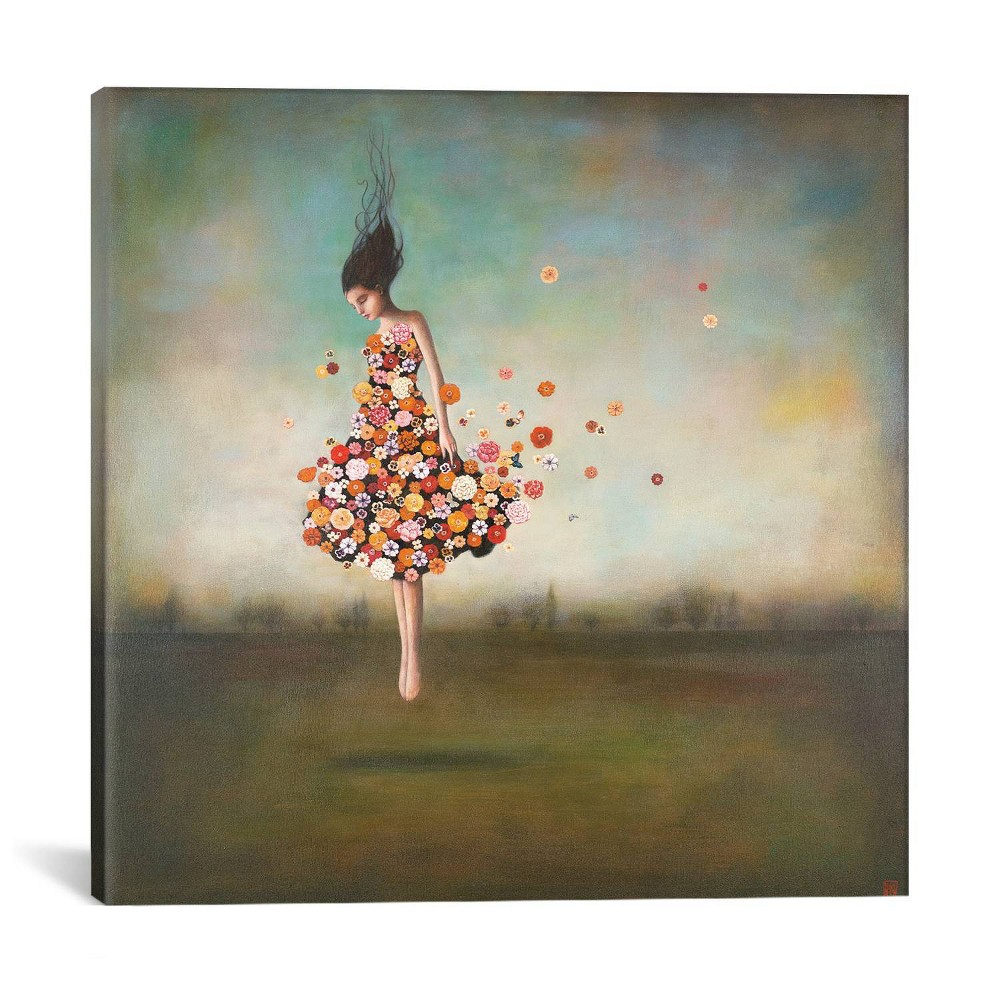 "18""x18"" Boundlessness in Bloom by Duy Huynh Unframed Wall Canvas Print Blue - iCanvas"