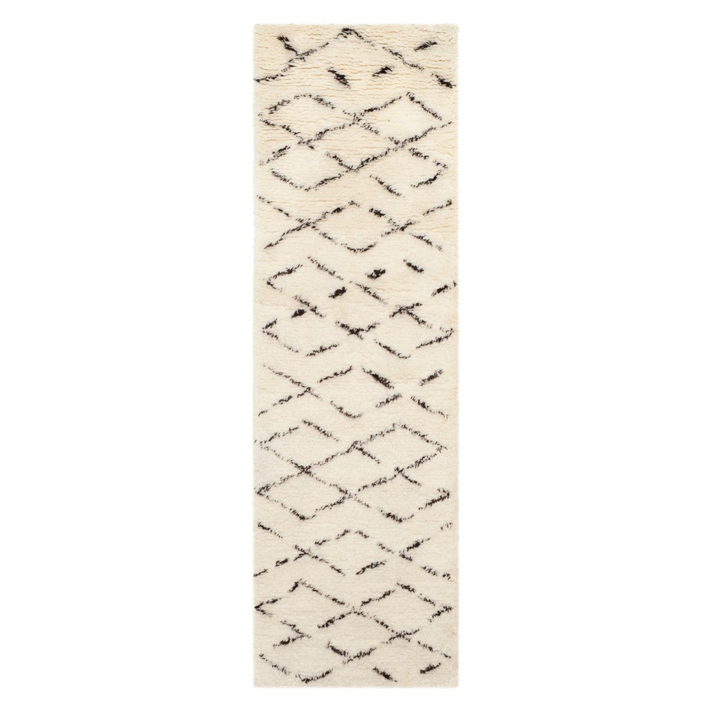 "2'3""X10' Geometric Runner Ivory/Brown - Safavieh, Size: 2'3""X10' RUNNER"