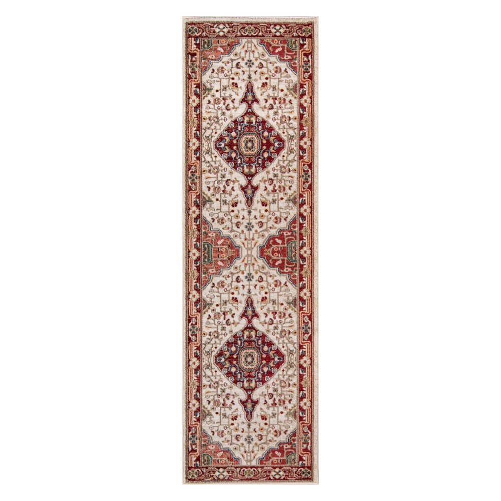 "2'3""X8' Medallion Loomed Runner Red - Momeni, Size: 2'3""X8' Runner"