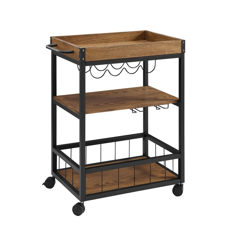 Austin Kitchen Cart Metal/Wood - Linon from Linon
