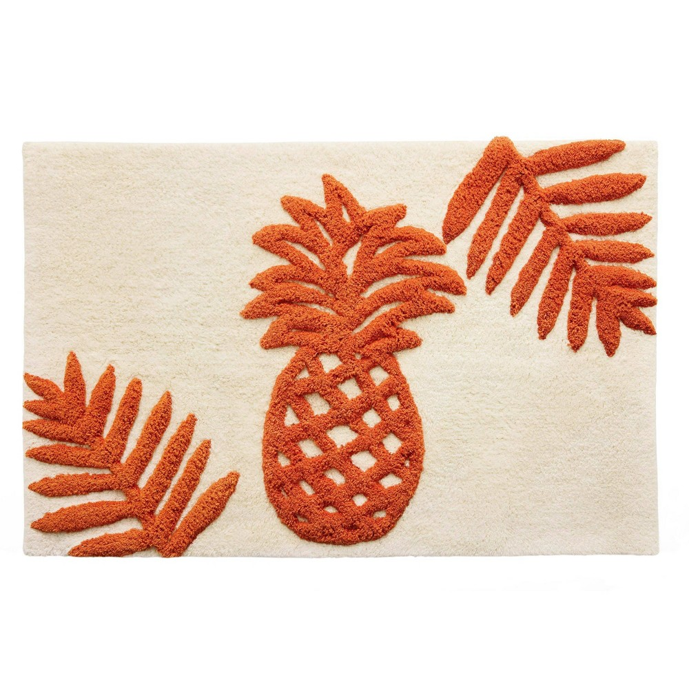 "20""x30"" Batik Pineapple Bath Rug Orange - Tommy Bahama from Tommy Bahama"