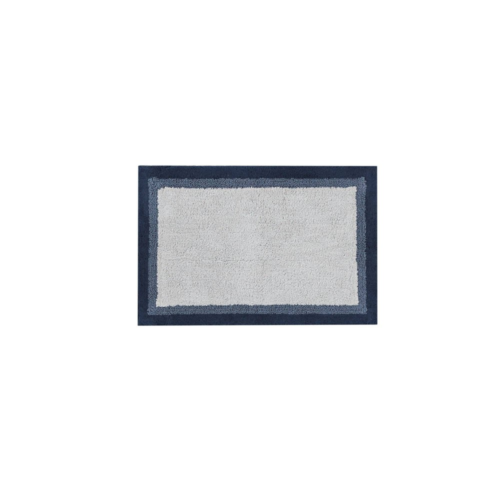 "20""x30"" Salem Cotton Tufted Bath Rug Navy from No Brand"
