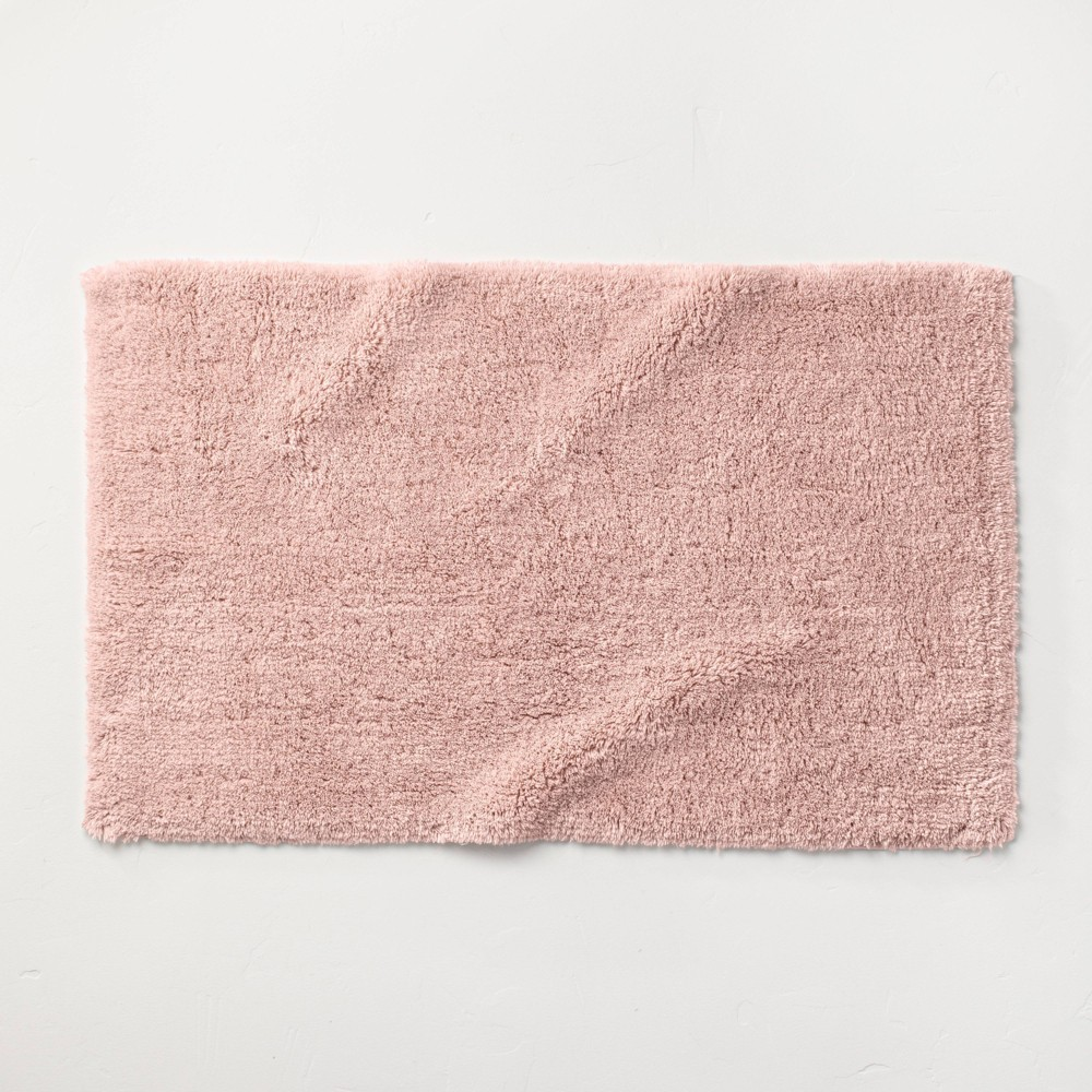 "21""x34"" Ultra Soft Tufted Bath Rug Light Blush - Casaluna from Casaluna"