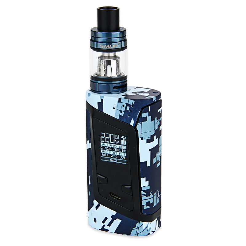 SMOK Alien 220W Kit with TFV8 Baby(Camouflage Blue, EU Edition)