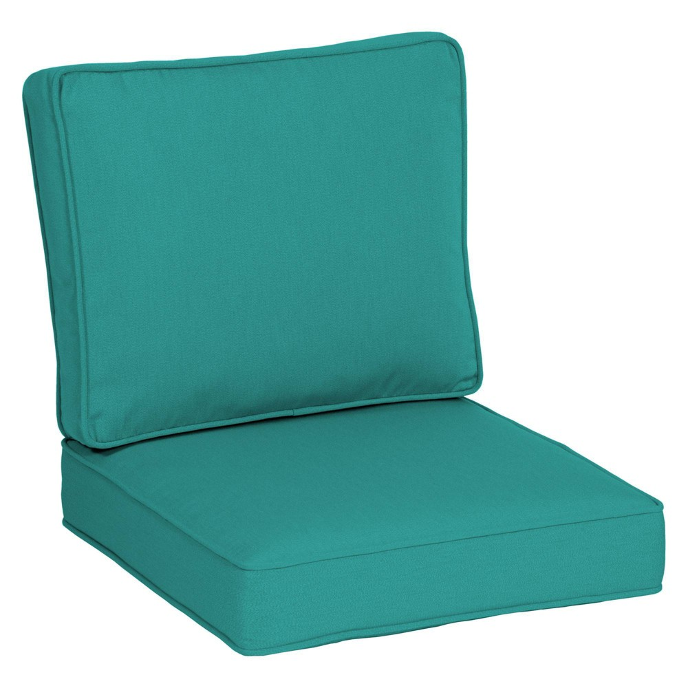 "24"" x 24"" Plush Deep Seat Cushion Set Surf Teal - Arden Selections from Arden"