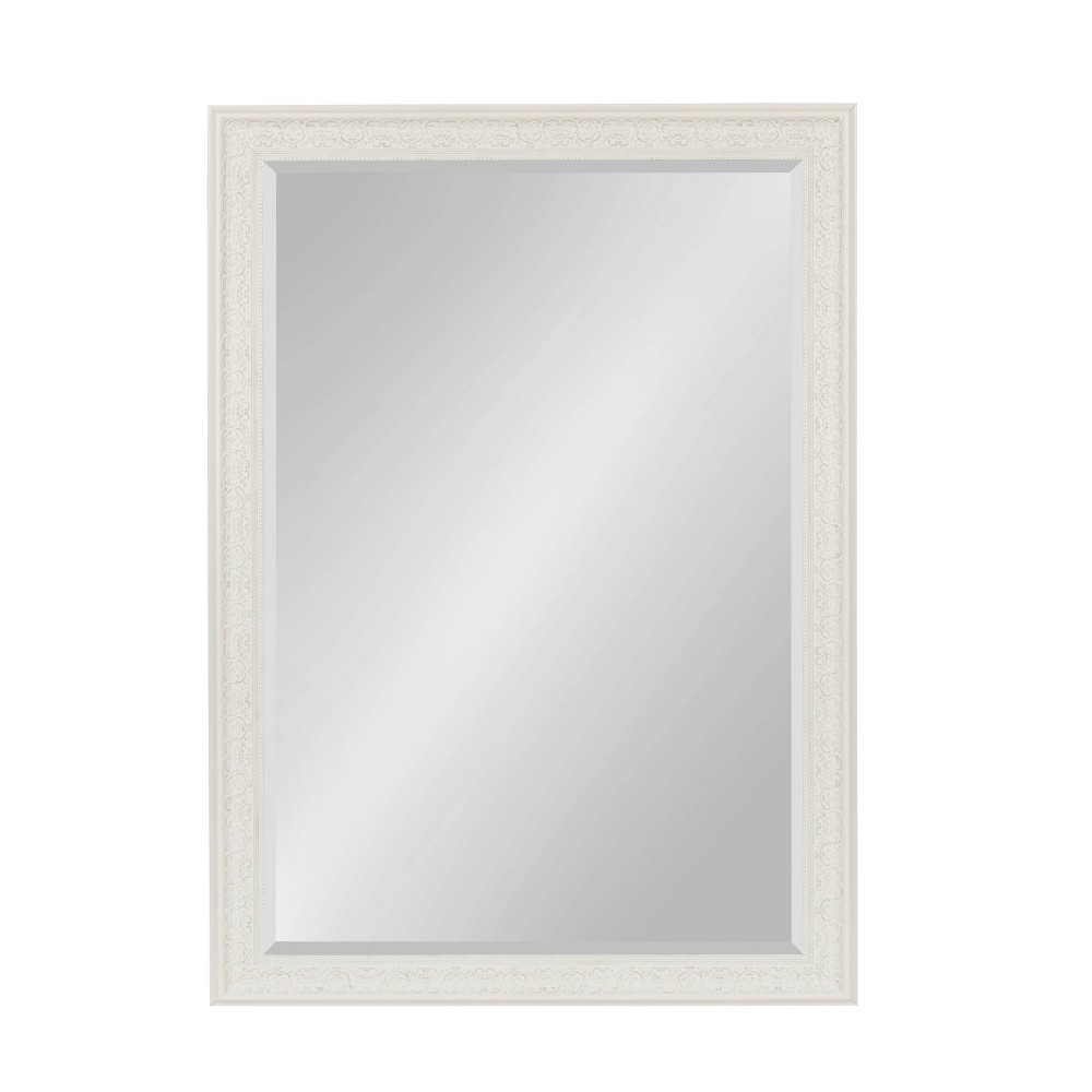 "29"" x 41"" Alysia Framed Wall Mirror White - Kate and Laurel from Kate & Laurel All Things Decor"