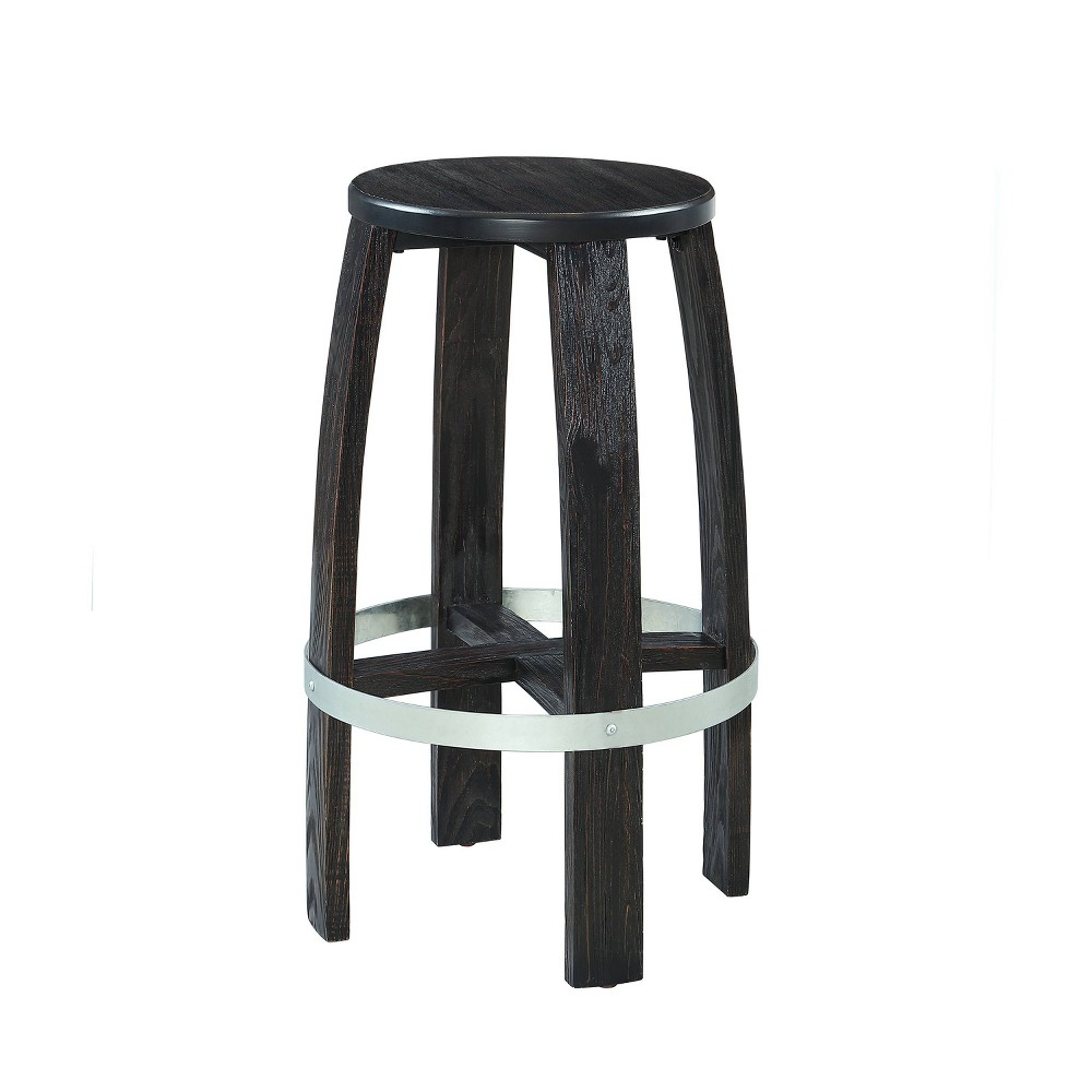 "29.5"" Brewer Barstool Rustic Dark Brown - Powell Company from Powell Company"