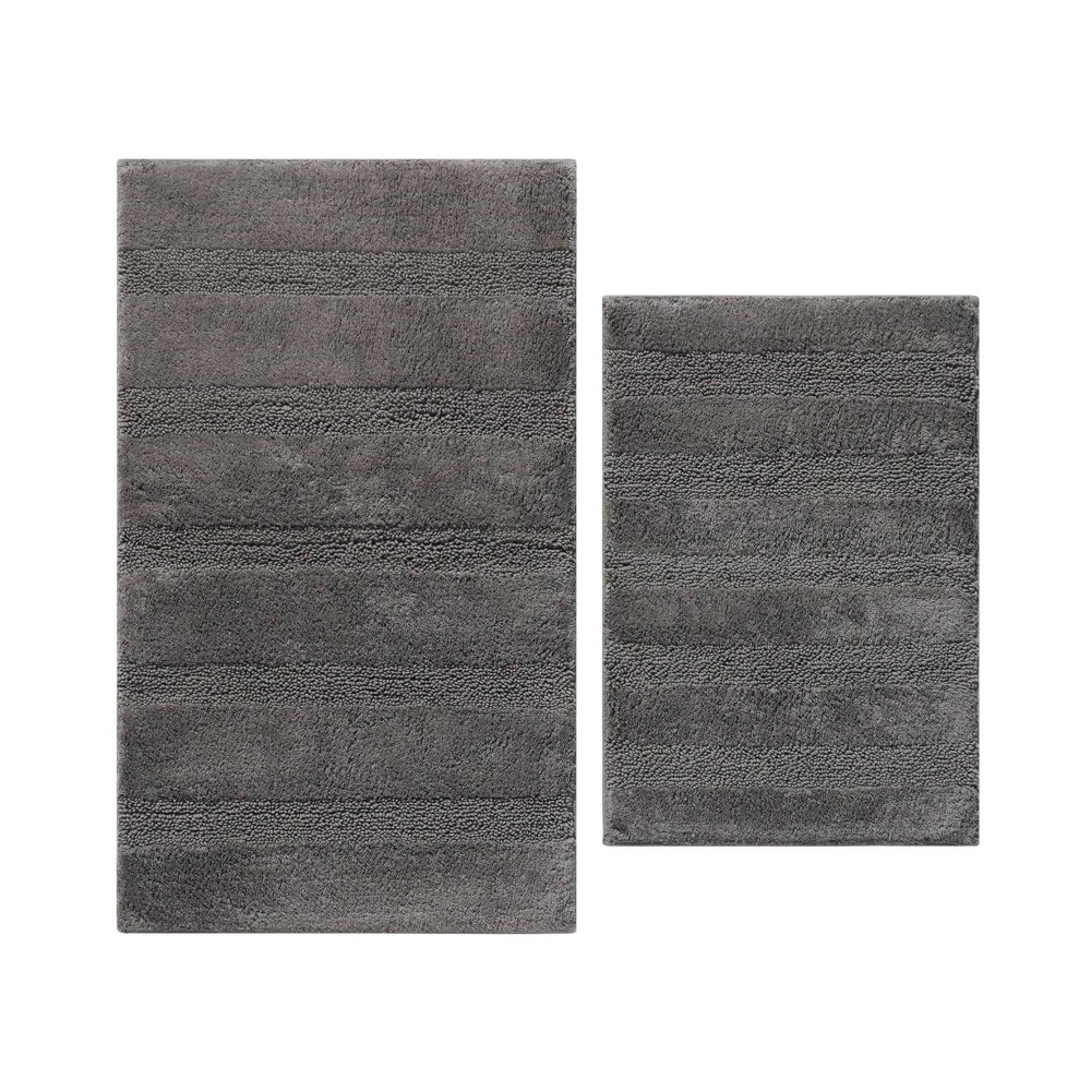 2pc Manchester Solid Bath Rug Set Dark Gray - ED Ellen DeGeneres from ED Ellen DeGeneres