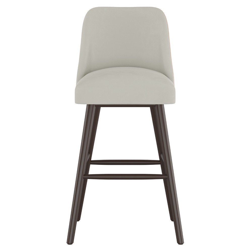 "30"" Geller Modern Barstool Light Gray Velvet - Project 62 from Project 62"
