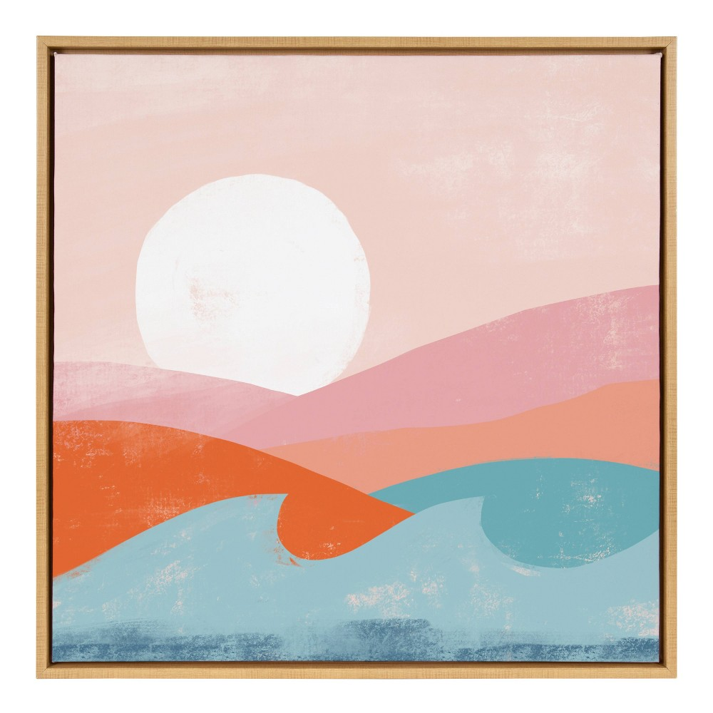"30"" x 30"" Sylvie Endless Summer Framed Canvas By Kate Aurelia Holloway Natural - Kate and Laurel from Kate & Laurel All Things Decor"