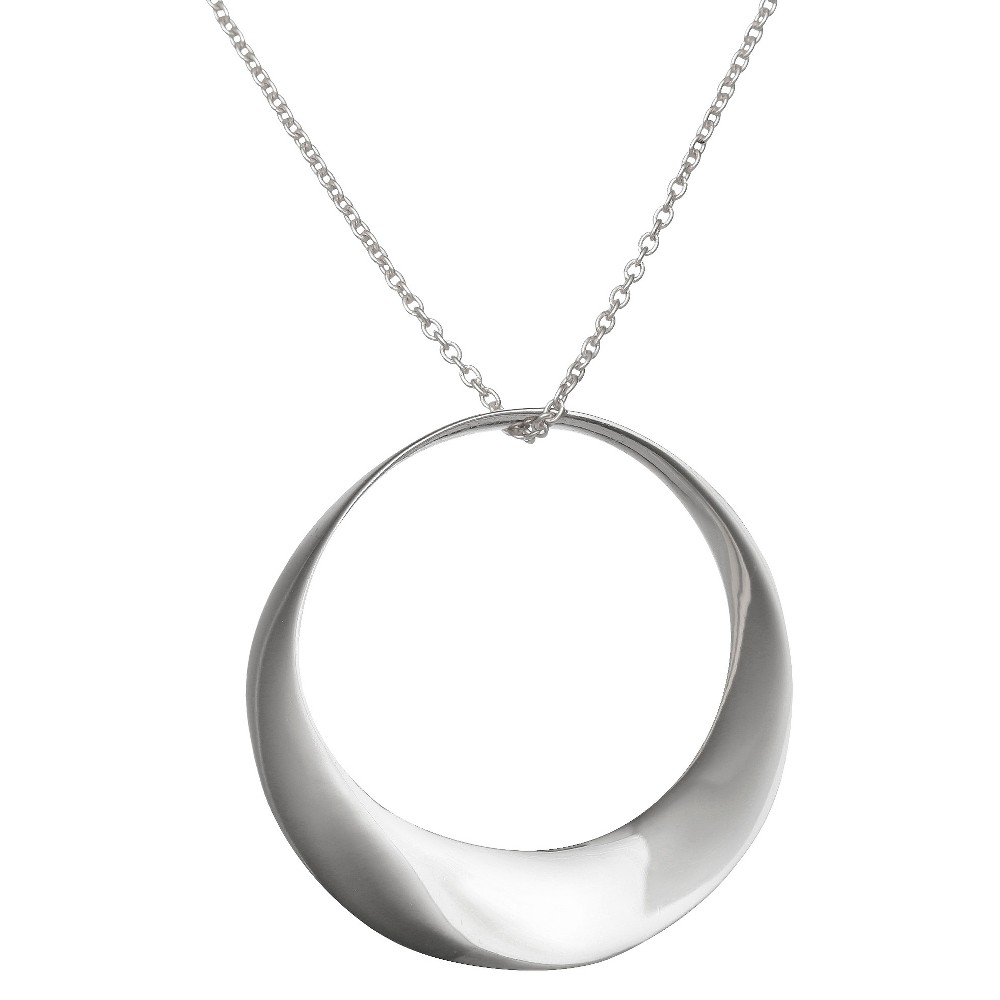 "31mm Open Circle Pendant in Sterling Silver (18"") from Treasure Lockets"
