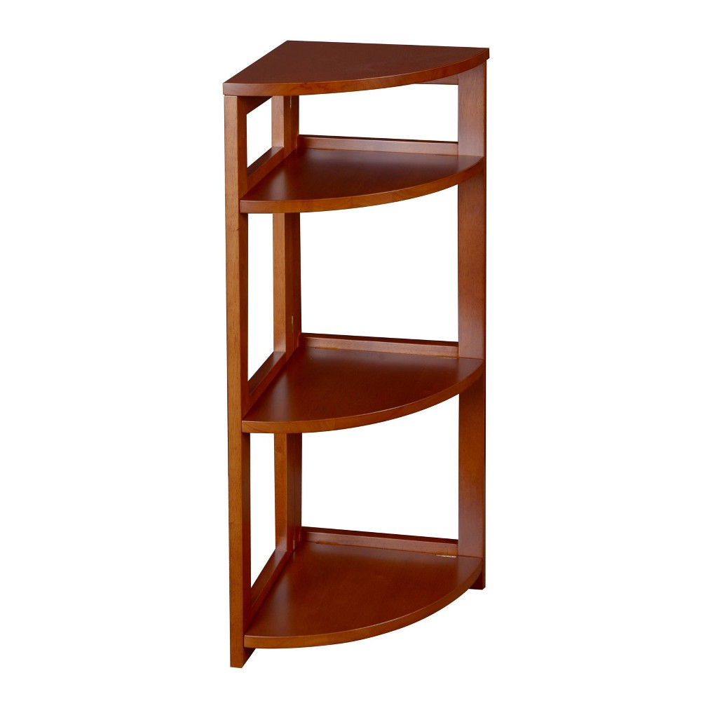 "34"" Cakewalk High Corner Folding Bookcase Cherry - Regency from Regency"