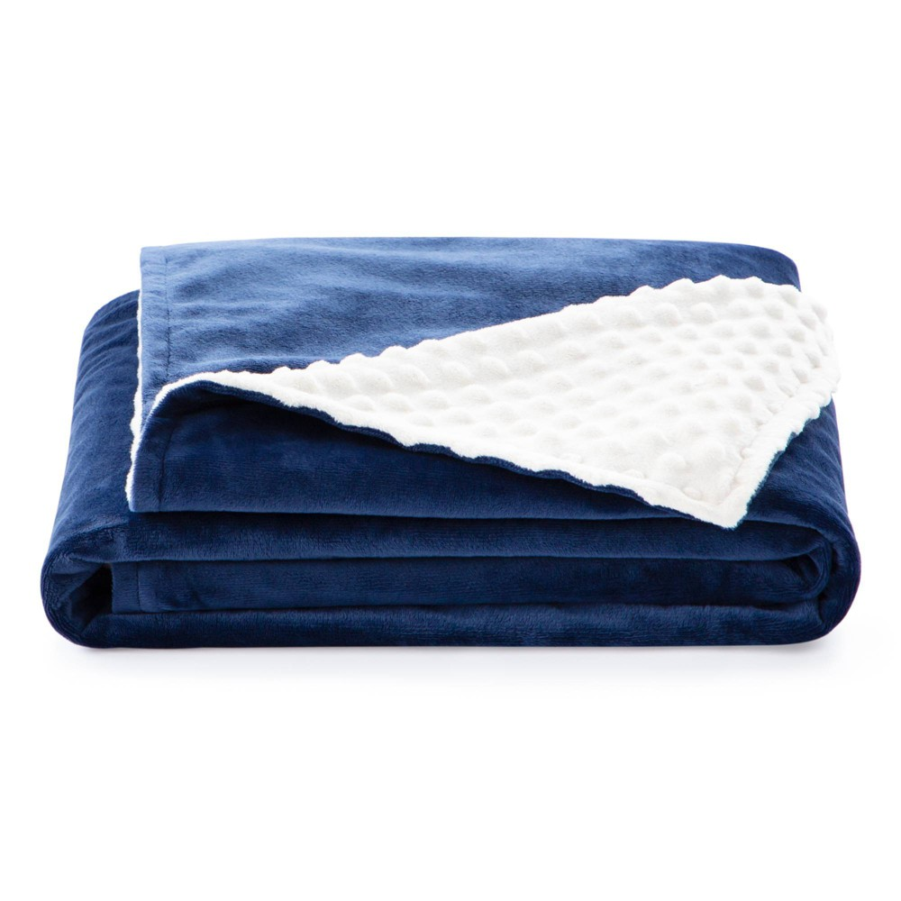 "38"" x 48"" Comfort Collection Microplush Weighted Blanket Cover Navy - Lucid from Lucid"