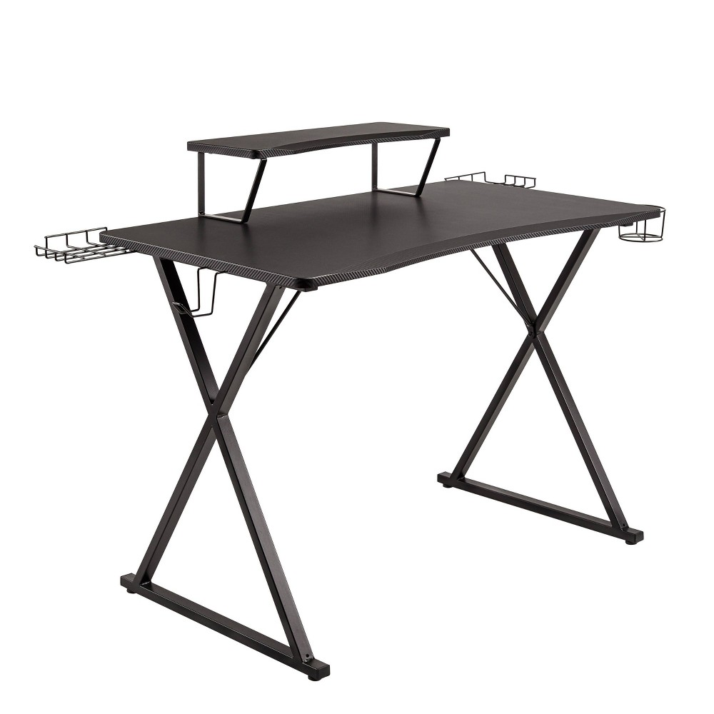 "41.7""x23.3"" Airlift Gaming E Sports Computer Desk Black - Seville Classics"